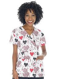 i scrubs s print scrub tops clothing