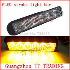 led emergency light bars cheap 6led police strobe lights vehicle strobe light bar car warning