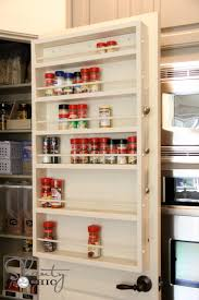 Kitchen Cabinet Door Spice Rack White Door Spice Rack Diy Projects
