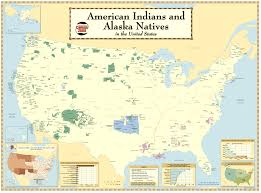 map us map american indians and alaska natives in the u s wall maps