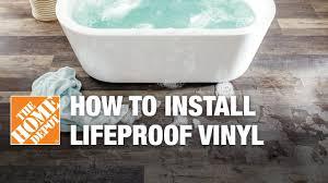 how to install lifeproof vinyl flooring youtube