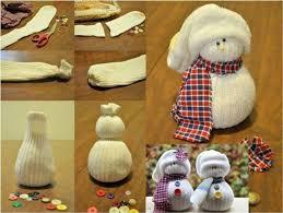 a snowman made from a sock snowmen snowman socks