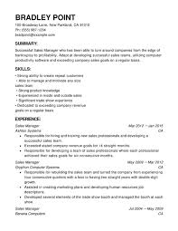 Resumes For Sales Professionals Sales Chronological Resumes Resume Help