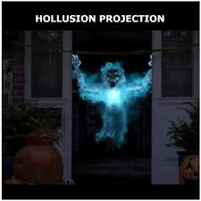 Halloween Chasing Ghost Projector by Lightshow Halloween Specter Projector Short Circuit White 73547