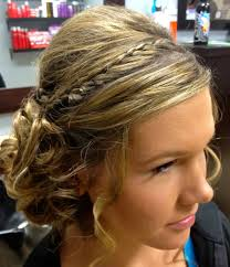 updo hairstyle image of medium hair prom formal updo prom