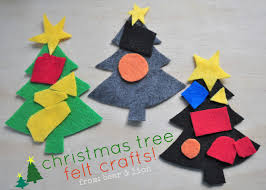 kids felt christmas tree crafts