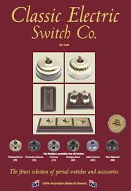 clipsal heritage range manufacturers classic electric switch company
