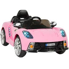 pink cars 12v ride on car kids w mp3 electric battery power remote control