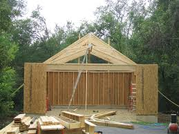 Size 2 Car Garage Roof 2 Car 2 Story Garage Using Attic Trusses And Dormer