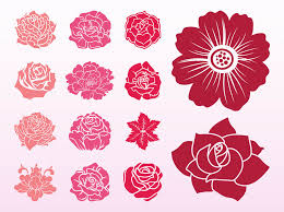 blooming flowers blooming flowers set vector graphics freevector