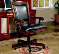 Wood Desk Chair Without Wheels Furnitures Wooden Office Chair Without Wheels Veneer Or Solid