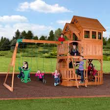 liberty ii wooden swing set playsets backyard discovery
