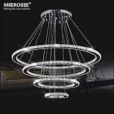 meerosee crystal chandeliers modern led ceiling lights fixtures