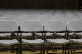 White Chairs White Chairs Assembly Rows Free Stock Photo Public Domain Pictures