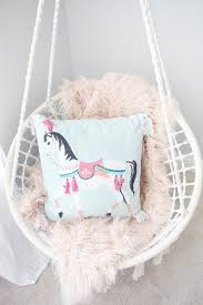 Pink Swinging Baby Chair Pillow Thought Children U0027s Swinging Chair
