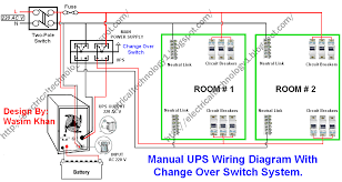 electrical technology manual ups wiring diagram with change over