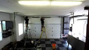 liftmaster jackshaft garage door opener garage door high lifted tracking with a lift master side mount