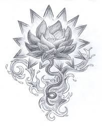 awesome tribal lotus tattoo design photos pictures and sketches