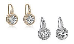 zirconia earrings 3 00cttw cubic zirconia earrings groupon goods