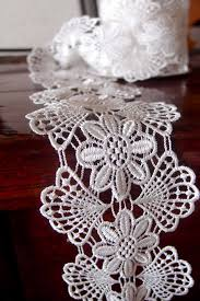 wide lace ribbon lace ribbon floral white