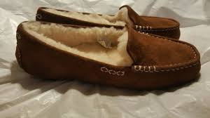 ugg womens shoes ebay ugg womens ansley 3312 tamarind suede moccasin shoe slipper size 9