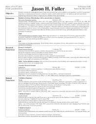 Document Control Resume Sample Resume For Biotechnology Sainde Org