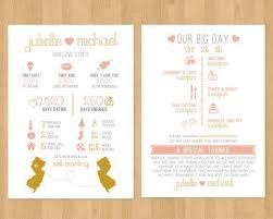 wedding program stationary infographic wedding program printable pdf timeline facts