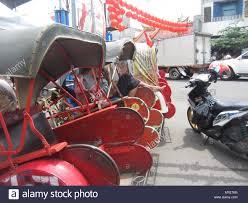 si e auto age surakarta indonesia 29th apr 2020 pedicabs rest in front