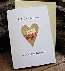 2nd wedding anniversary gifts 2nd wedding anniversary keepsake card cotton by artbyseezal 4 95