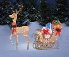 Christmas Reindeer Yard Decorations by Lighted Christmas Yard Decorations Reindeer Ebay