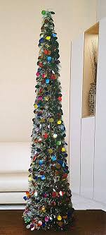 collapsible christmas tree 5 foot collapsible indoor tinsel christmas