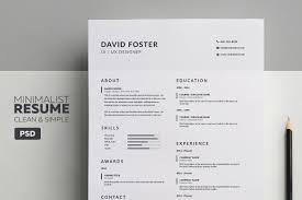 curriculum vitae minimalist design packaging area layout minimalist resume cv david resume templates creative market