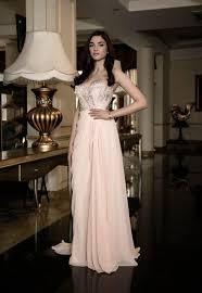french wedding dress in cream blush wedding dress with slit