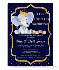 prince baby shower elephant prince baby shower invitation royal baby