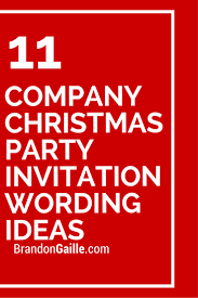 11 company christmas party invitation wording ideas party