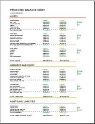 Pro Forma Balance Sheet Template Proforma Balance Sheet At Http Templateinn Com