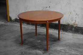 round teak dining table bjork studio mid century modern round swedish teak dining table