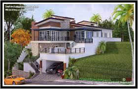 hillside house plans for sloping lots modern sloping block house design with threestorey floor plan