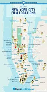Citi Bike New York Map Most Famous New York City Film Locations Daily Infographic