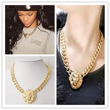 chunky chain pendant necklace images Fashion gold lion head pendant chunky chain choker necklace for jpg