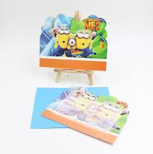 minion birthday party invites aliexpress com buy kids birthday minions party invitation cards