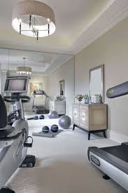 Floor To Ceiling Mirror by Traditional Home Gym With Chandelier By Jeremy Locke Zillow Digs