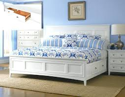 White King Platform Bed White King Storage Bed King Size Storage Drawer Bed In White