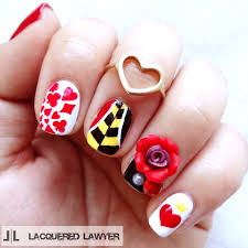 lacquered lawyer nail art blog queen of hearts