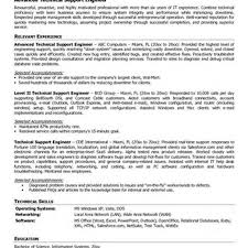 Resume Sample Technical Support 100 mis sample resume free sample resume for mis executive
