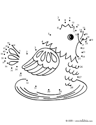 hen dot to dot game coloring pages hellokids com