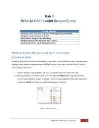 membuat query tabel panduan ms access 2007 lengkap