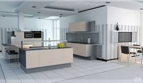 Neutral Kitchen Ideas - delightful neutral kitchen virtual design layout showcasing white
