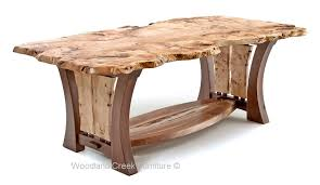 burl wood dining room table craftsman table with burl slab modern dining table unique