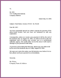 sample collection letter designproposalexample com